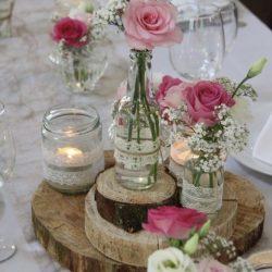 Décoration mariage centre de table