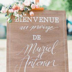 affiche bienvenue mariage décoration Liège